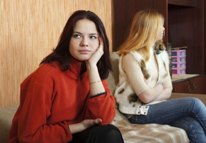 lesbisch koppel in conflicten