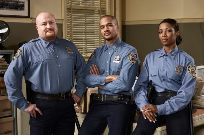 drie politieagenten